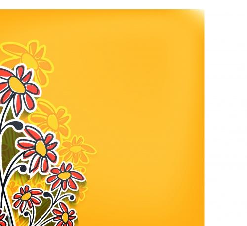 Цветы креативные фоны | Flowers creative vector backgrounds