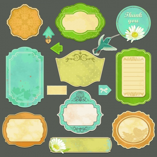 Cute Labels Vector