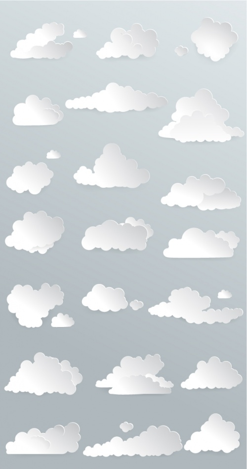 Designtnt - Vector Clouds Set 1