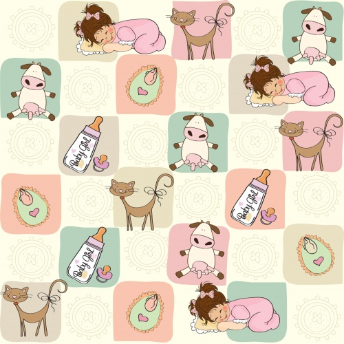Cartoon seamless pattern with toys