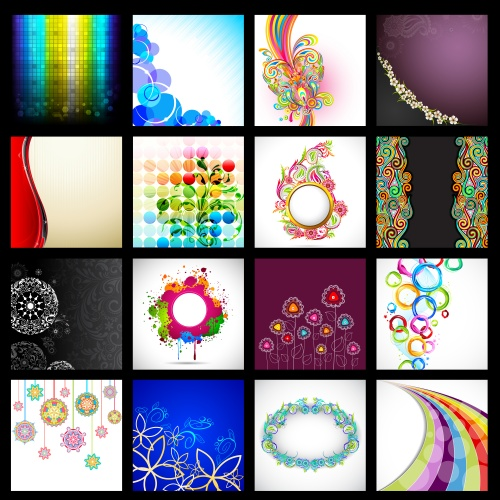 ������� ����������� ���� � ������� / Color and abstract vector backgrounds