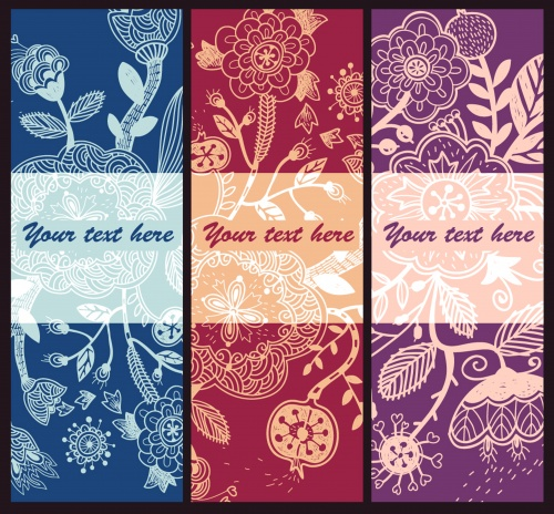 Set of floral cards