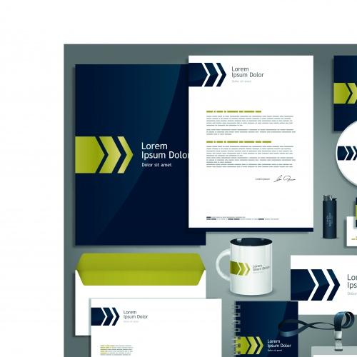 Корпоративный стиль часть 14 | Corporate identity template vector set 14