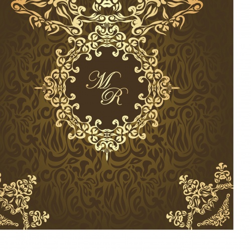 Wedding invitation with lace pattern