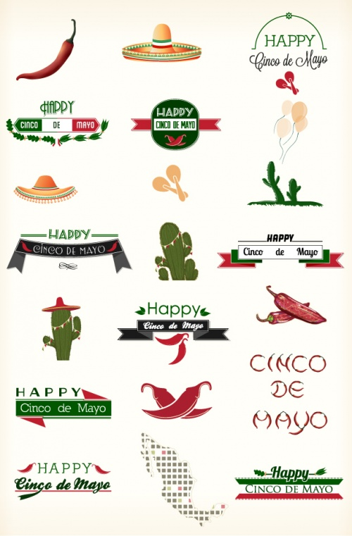 Designtnt - Cinco de Mayo Vector Elements
