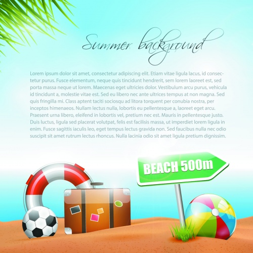 Tropical Summer Vacation Vector