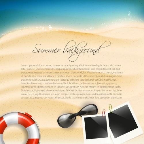 Tropical Summer Vacation Vector