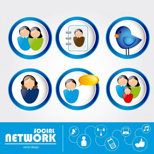 Социальная сеть - векторный клипарт / Social network - vector stock