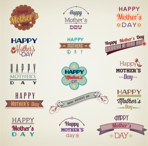 Designtnt - Mother�s Day Vector Elements Set 1