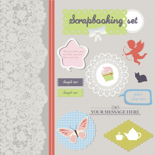 Scrapbooking design elements
