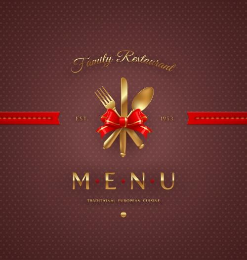 Винтажные фоны меню для итальянской и французской кухни / Vintage menu for italian and france restaurant in vector