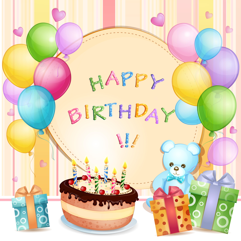 Детская открытка с днем рождения gif