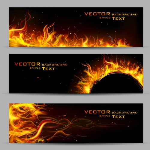 Fire Flames Backgrounds Vector