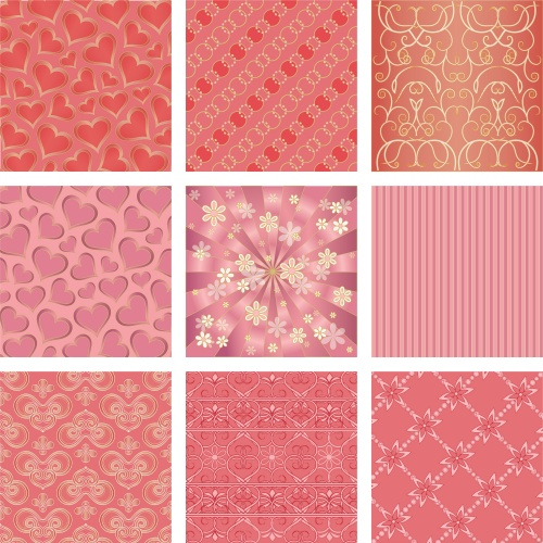 Backgrounds with patterns, floral backgrounds - vector clipart