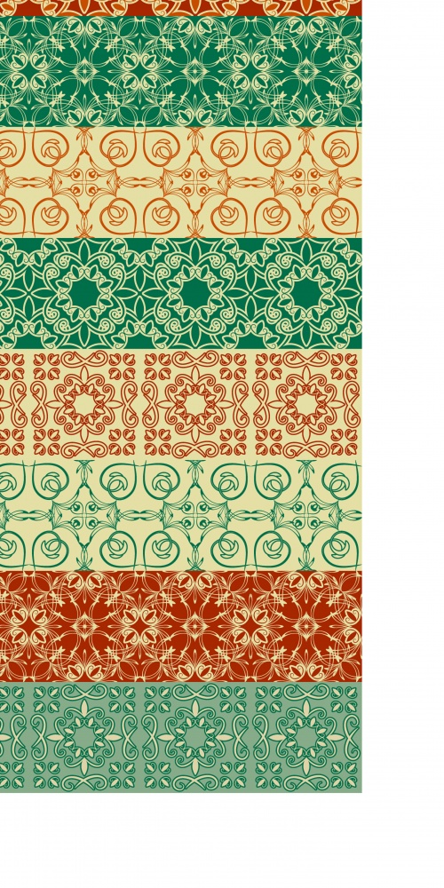 Oriental style seamless patterns