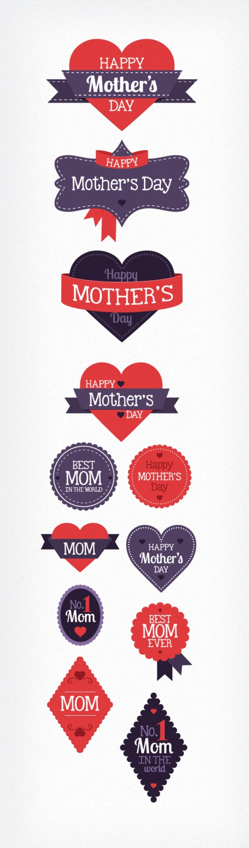 Designtnt - Mothers Day Vector Elements
