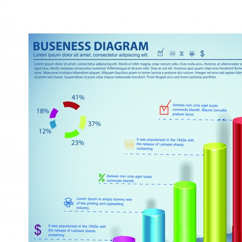 Инфографики и диаграммы часть 53 | Infographic and diagram design elements vector set 53