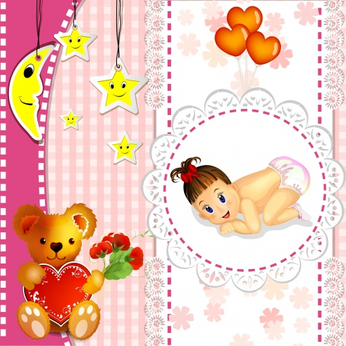 Children's backgrounds - vector clipart