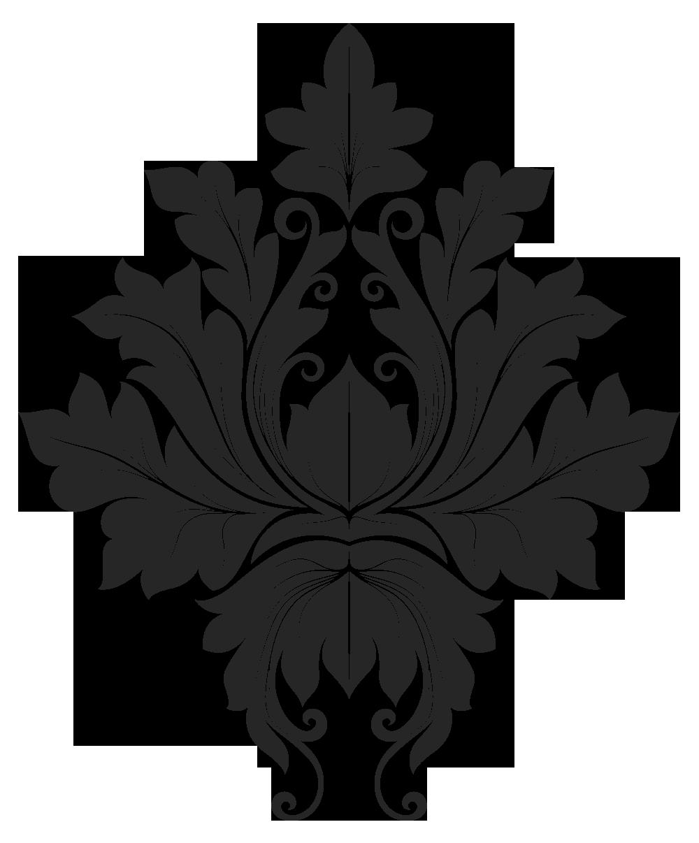 simple damask stencil - HD1000×1206