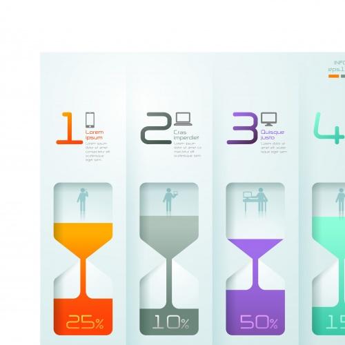 Инфографики креативный дизайн часть 44 | Infographic creative design vector set 44