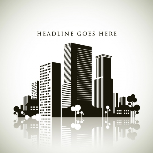 Modern City Backgrounds Vector