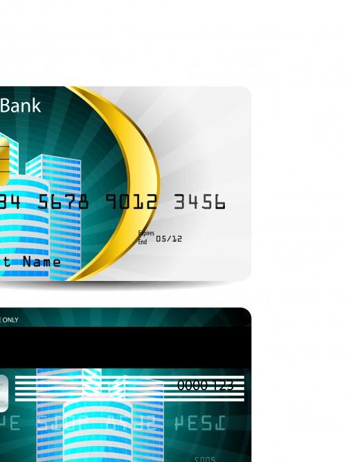 Кредитная банковская карта | Credit bank card template vector