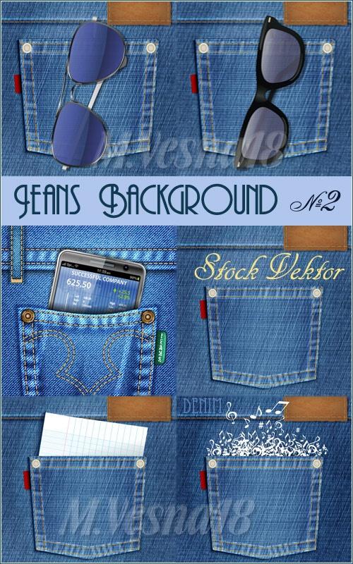 Джинсовые фоны в векторе, №2/Denim backgrounds in the vector stock, №2