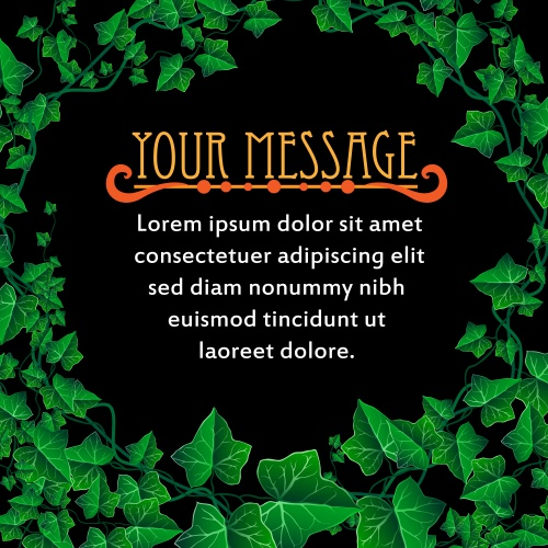 Баннеры и фоны с зелеными листьями в векторе/ Green leaves banners in vector