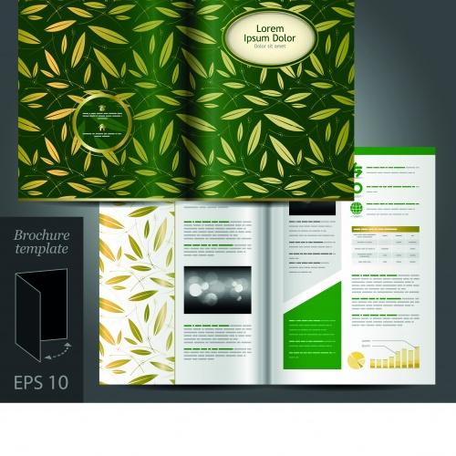 Брошюра из трёх страниц часть 33 | Tri fold business brochure vector set 33