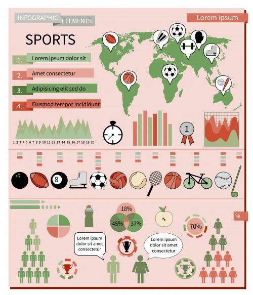 Спортивная инфографика / Sport infografic in vector