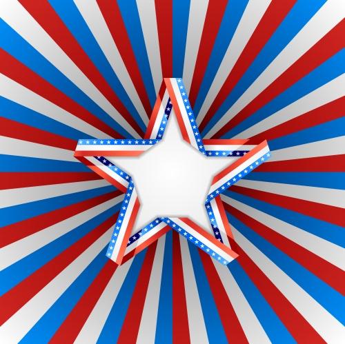 Векторные фоны с американской символикой / American backgrounds in vector
