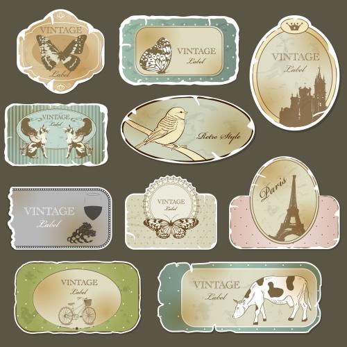Векторный клипарт: Vintage Labels.