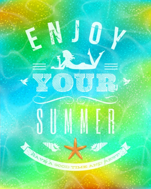 Summer Holidays Backgrounds Vector