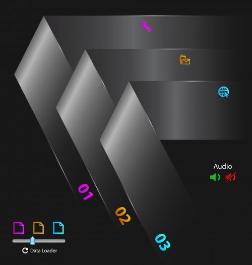 Элементы инфографики, часть 43 / Infographics design template with numeration, part 43 - vector stock