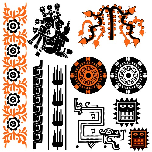 Старинные векторные орнаменты/ Ancient Ornaments on white in vector