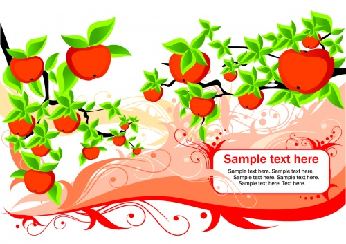 Stock: Backgrounds with apples and text