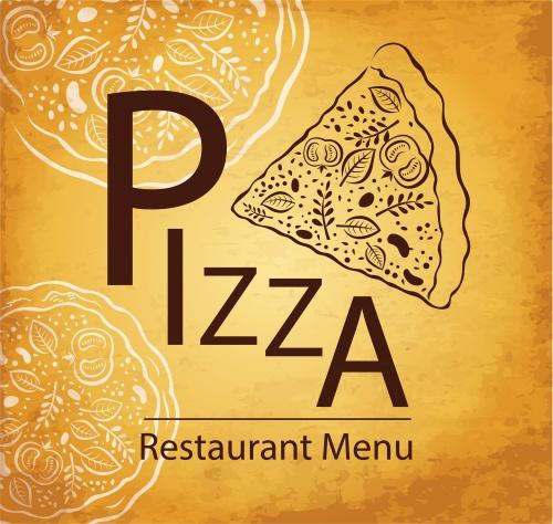 Винтажные меню для пиццерии / Vintage menu for pizza cafe