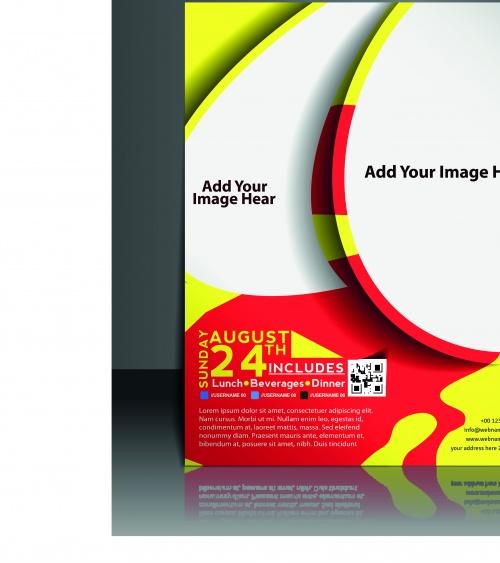 Креативные буклеты и постеры | Creative booklet and poster vector