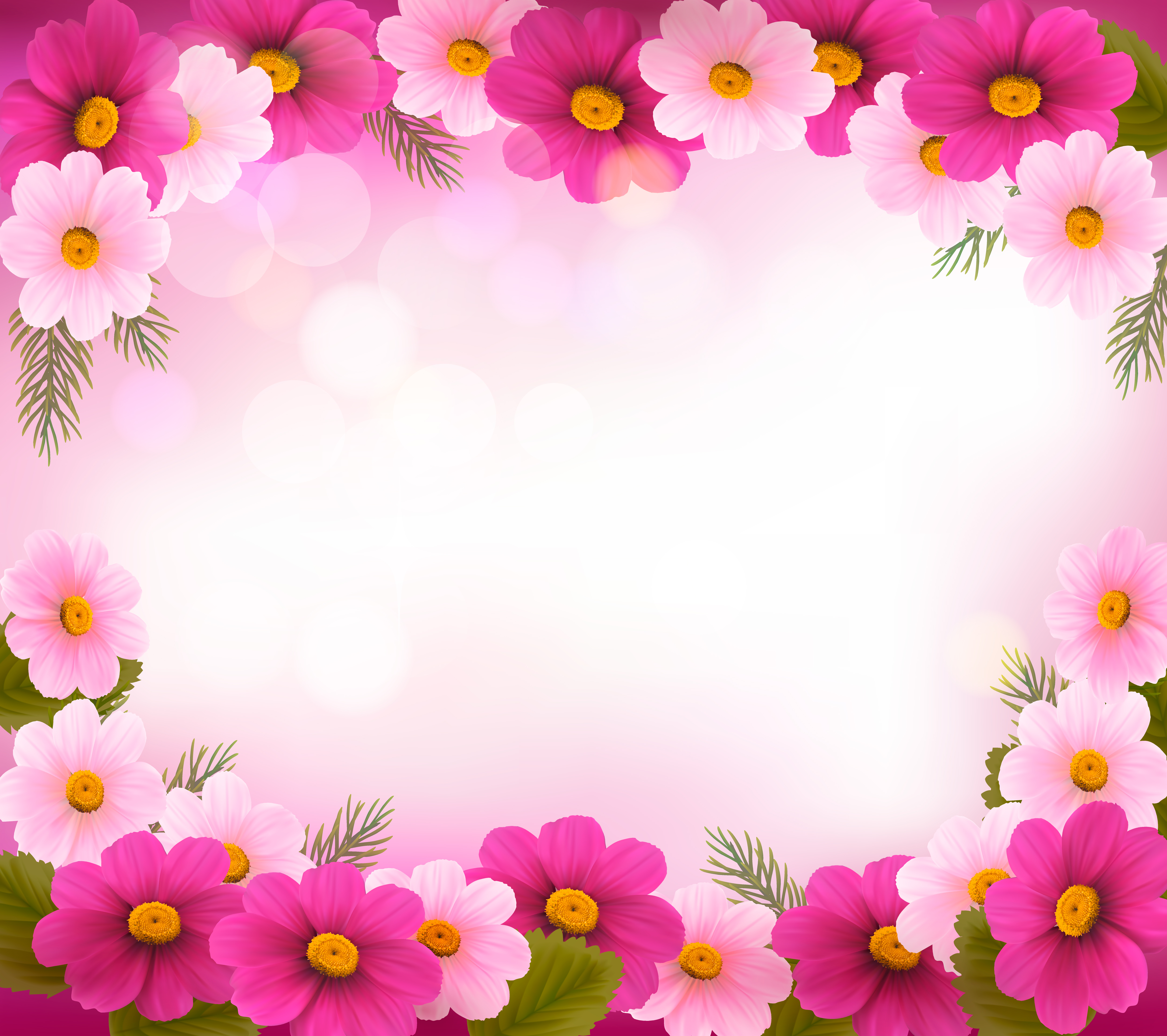 Рамка для розовые цветы