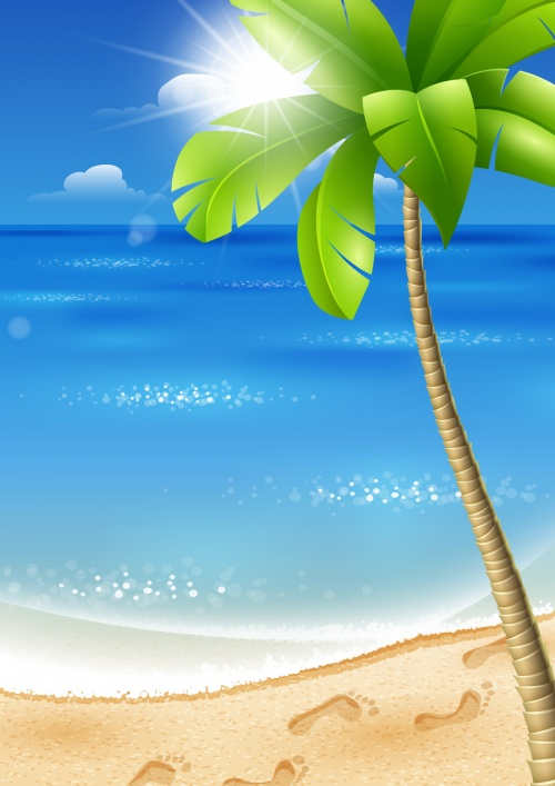 Tropical Backgrounds Vector