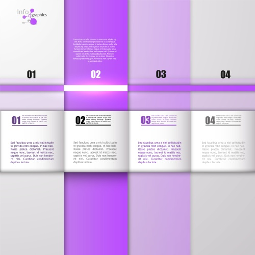 Инфографика и вэб элементы, часть 43 / Infographics design template with numeration and web elements, part 43 - vector stock