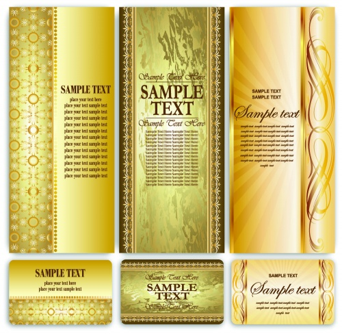 Golden vintage templates
