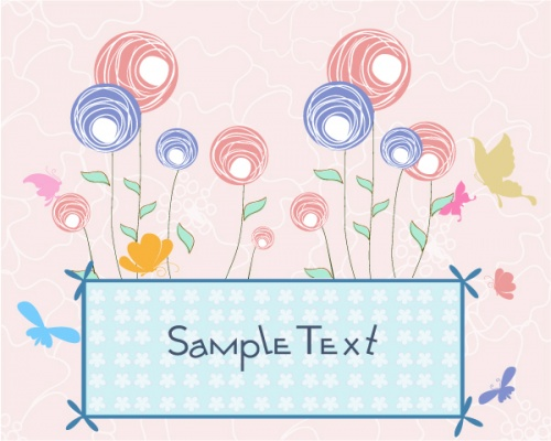 Spring Vector Backgrounds Set 10