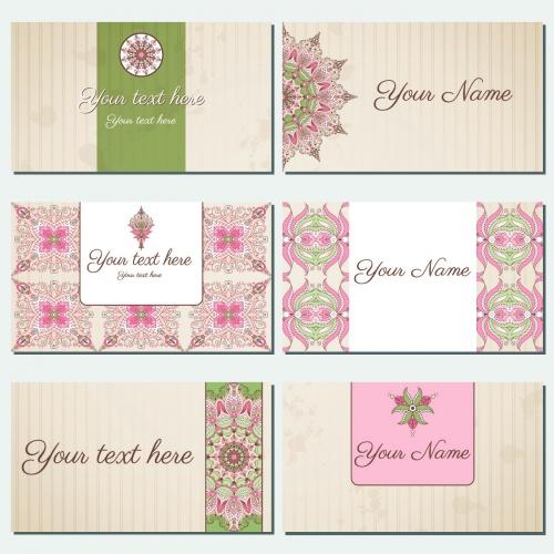 Vintage Floral Backgrounds & Cards Vector