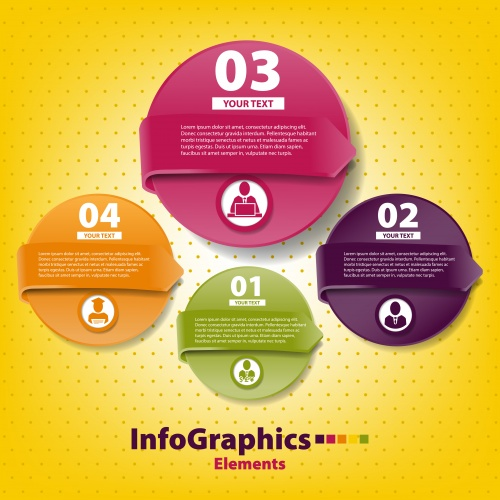 Элементы инфографики, часть 41 / Infographics design template with numeration, part 41 - vector stock