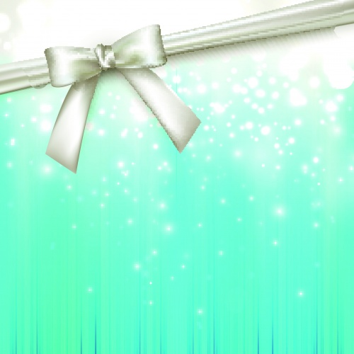 Карточки и баннеры с лентой и бантом 2 | Cards and banners with ribbon bow vector 2