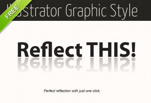 Designtnt - Illustrator Reflection Graphic Style