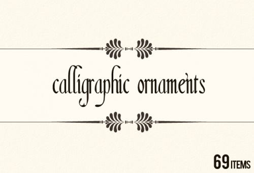 Designtnt - Vector Calligraphic Elements