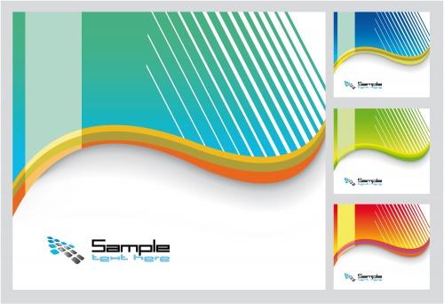 Фоны в стиле модерн для бизнес карточек в векторе / Modern backgrounds in vector