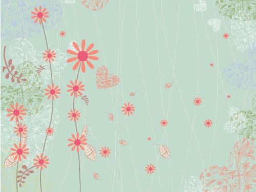 Spring Vector Backgrounds Set 11